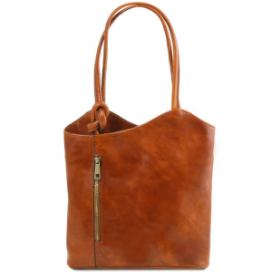 Tuscany Leather TL141497 Patty - Sac en cuir convertible en sac à dos Miel