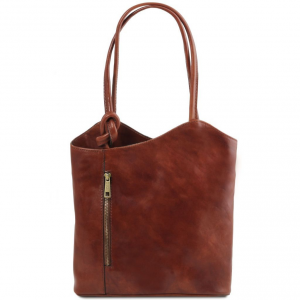 Tuscany Leather TL141497 Patty - Sac en cuir convertible en sac à dos Marron
