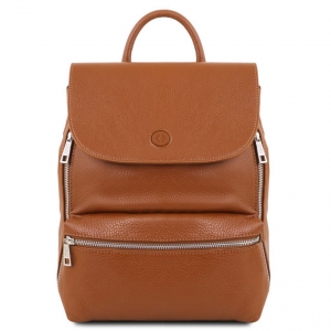 Tuscany Leather TL141729 Margherita - Leather backpack Cognac