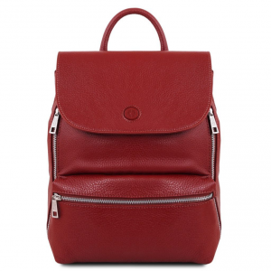Tuscany Leather TL141729 Margherita - Sac à dos en cuir Rouge