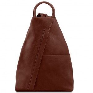 Tuscany Leather TL140963 Shanghai - Leather backpack Brown