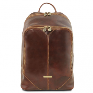 Tuscany Leather TL141715 Mumbai - Leather backpack Brown