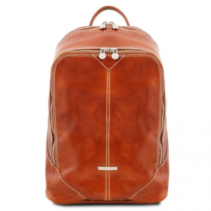 Tuscany Leather TL141715 Mumbai - Leather backpack Honey