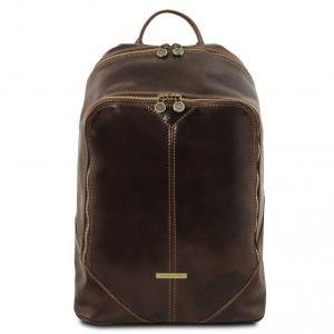 Tuscany Leather TL141715 Mumbai - Zaino in pelle Testa di Moro 44d7aab9608