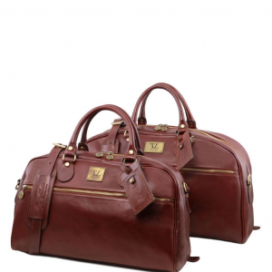Tuscany Leather TL141258 Magellan - Leather travel set Brown