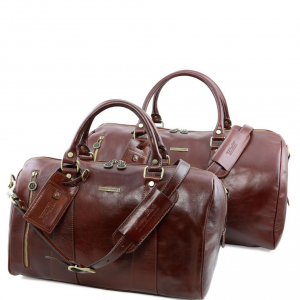 Tuscany Leather TL141246 Marco Polo - Leather travel set Brown