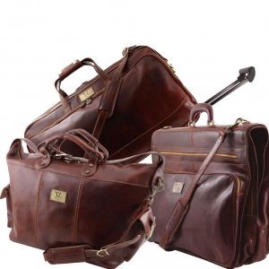 Tuscany Leather TL141078 Luxurious - Travel set Brown