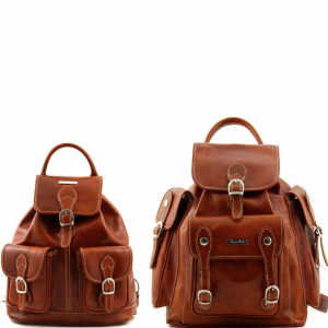 Tuscany Leather TL90173 Trekker - Travel set Leather backpacks Honey