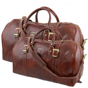 Tuscany Leather TL10175 Berlin - Leather travel set Brown