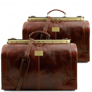 Tuscany Leather TL1070 Madrid - Travel set Gladstone bags Brown