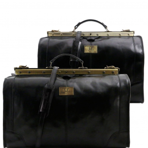 Tuscany Leather TL1070 Madrid - Travel set Gladstone bags Black