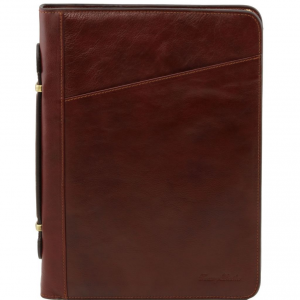 Tuscany Leather TL141295 Costanzo - Exclusive Leather Portfolio Brown
