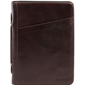 Tuscany Leather TL141295 Costanzo - Exclusive Leather Portfolio Dark Brown