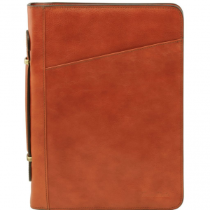 Tuscany Leather TL141295 Costanzo - Exclusive Leather Portfolio Honey