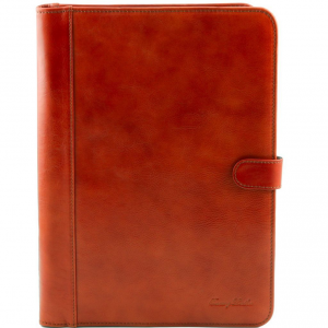 Tuscany Leather TL141275 Adriano - Portadocumenti in pelle chiusura con bottone Miele