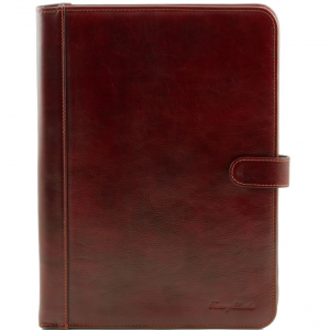 Tuscany Leather TL141275 Adriano - Porte documents en cuir avec fermerture à bouton Marron