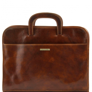 Tuscany Leather TL141022 Sorrento - Document Leather briefcase Brown