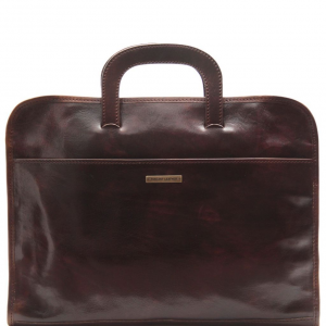 Tuscany Leather TL141022 Sorrento - Document Leather briefcase Dark Brown