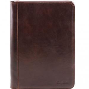 Tuscany Leather TL141287 Luigi XIV - Portadocumenti con cerniera Testa di Moro