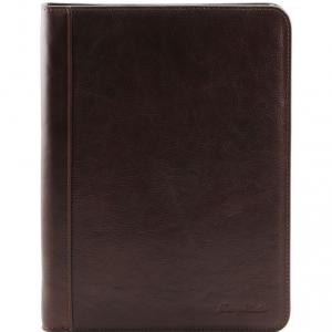 Tuscany Leather TL141293 Lucio - Esclusivo portadocumenti in pelle con anelli Testa di Moro