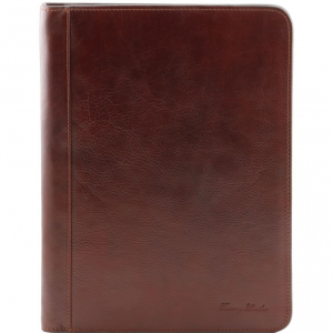 Tuscany Leather TL141293 Lucio - Exclusive leather document case with ring binder Brown