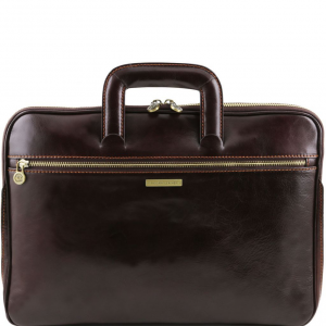 Tuscany Leather TL141324 Caserta - Document Leather briefcase Dark Brown