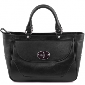 Tuscany Leather TL141226 TL NeoClassic - Lady leather handbag Black