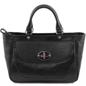 Tuscany Leather TL141226 TL NeoClassic - Sac à main en cuir pour femme Noir