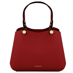 Tuscany Leather TL141684 Anna - Leather handbag Red