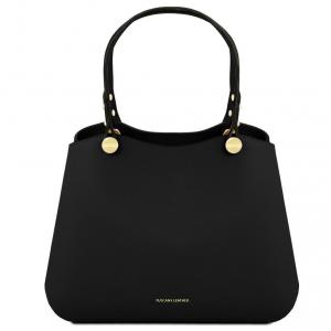 Tuscany Leather TL141684 Anna - Leather handbag Black