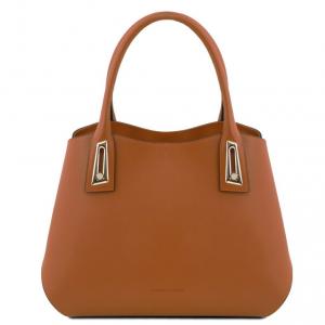Tuscany Leather TL141694 Flora - Leather handbag Cognac
