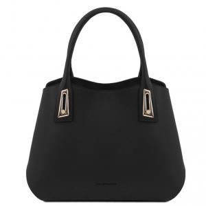Tuscany Leather TL141694 Flora - Leather handbag Black