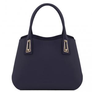 Tuscany Leather TL141694 Flora - Leather handbag Dark Blue