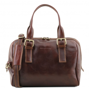 Tuscany Leather TL141714 Eveline - Leather duffle bag Brown