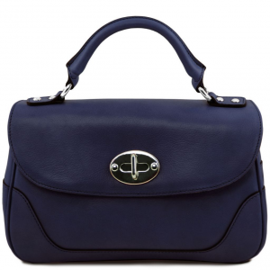 Tuscany Leather TL141227 TL NeoClassic - Lady leather duffel bag Dark Blue