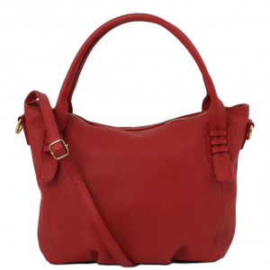 Tuscany Leather TL141705 TL Bag - Soft leather handbag Red