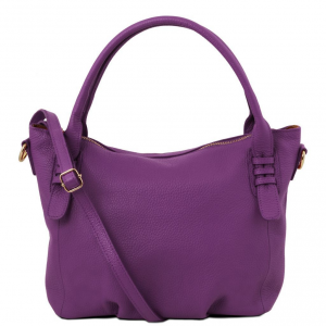 Tuscany Leather TL141705 TL Bag - Borsa a mano in pelle morbida Viola
