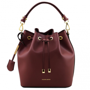Tuscany Leather TL141531 Vittoria - Leather secchiello bag Bordeaux