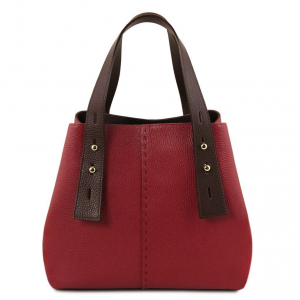 Tuscany Leather TL141730 TL Bag - Leather shopping bag Red