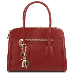 Tuscany Leather TL141285 TL Keyluck - Soft leather handbag Red