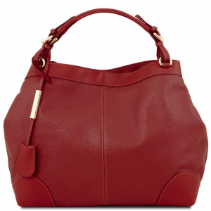 Tuscany Leather TL141516 Ambrosia - Soft leather bag with shoulder strap Red
