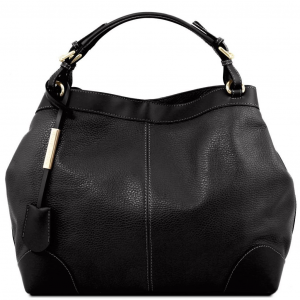 Tuscany Leather TL141516 Ambrosia - Soft leather bag with shoulder strap Black