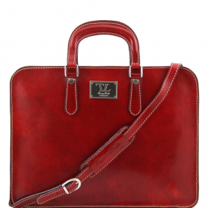 Tuscany Leather TL140961 Alba - Women's Leather briefcase 1 compartment Red
