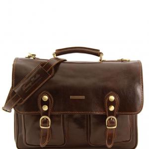 Tuscany Leather TL141134 Modena - Cartella in pelle 2 scomparti Testa di Moro