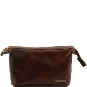 Tuscany Leather TL140979 Ronny - Trousse de toilette en cuir Marron