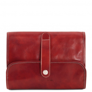 Tuscany Leather TL141716 Travel nécessaire Red