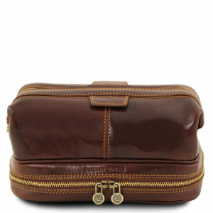Tuscany Leather TL141717 Patrick - Trousse de toilette en cuir Marron