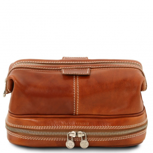 Tuscany Leather TL141717 Patrick - Leather toilet bag Honey