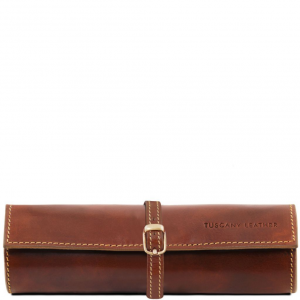 Tuscany Leather TL141621 Exclusif trousse à bijoux en cuir Marron