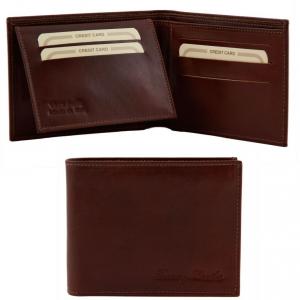 Tuscany Leather TL140760 Elégant portefeuille en cuir pour homme 3 volets Marron
